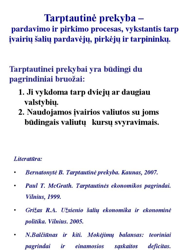 prekybos mainų sistemos apribojimai)