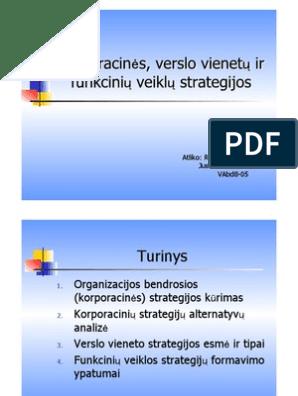 susijusios diversifikacijos verslo strategija)