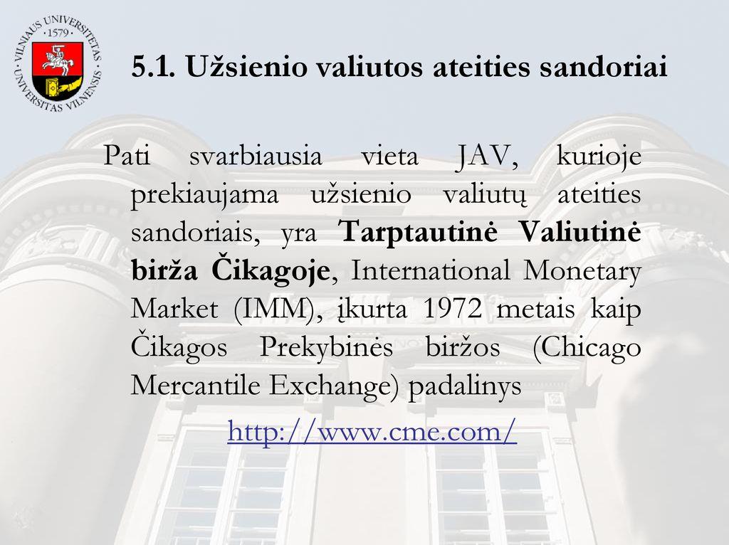 ateities ir pasirinkimo sandorių akcijų rinka)
