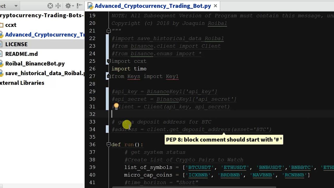 binance python bot example