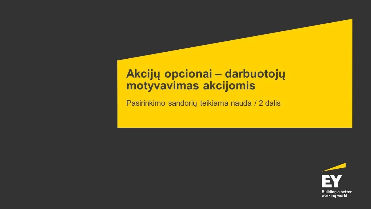 aa akcijų pasirinkimo sandoriai)