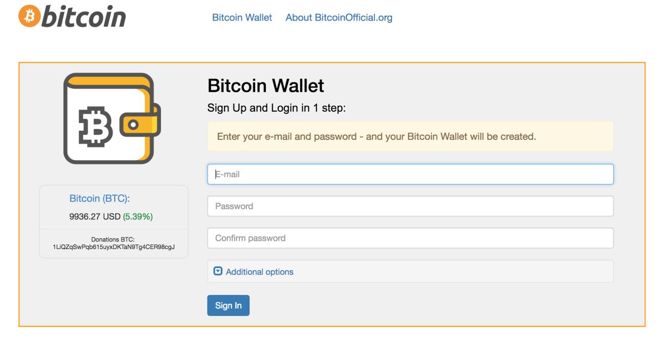 bitcoin register account)