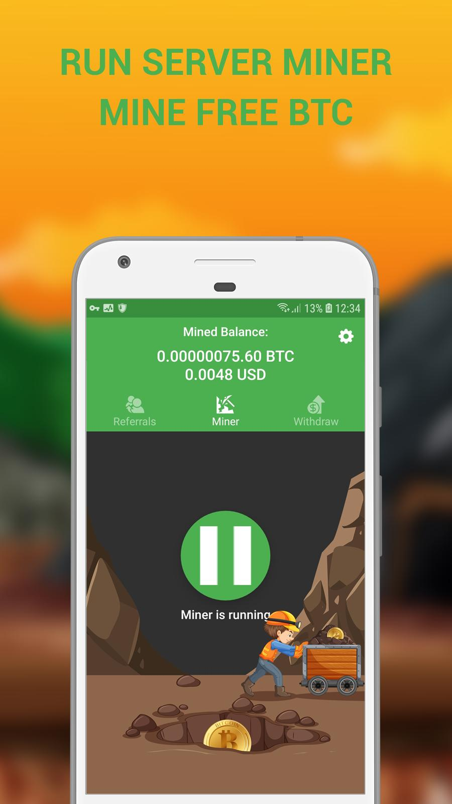 bitcoin miner android app
