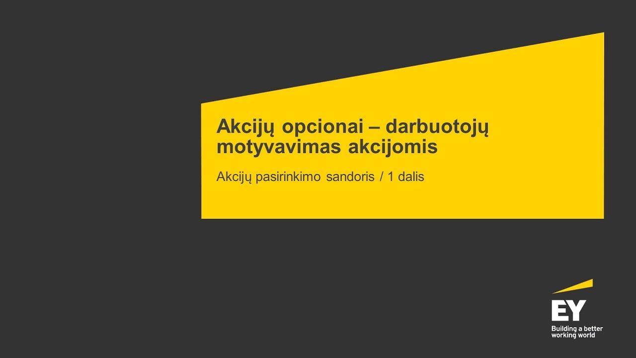 irs nekvalifikuoti akcijų pasirinkimo sandoriai)