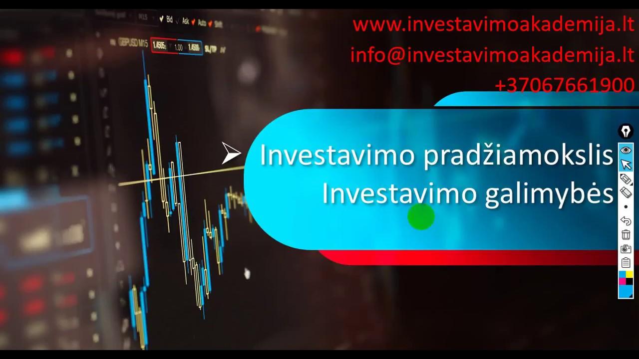 ne akcijų rinkos investavimo galimybės)